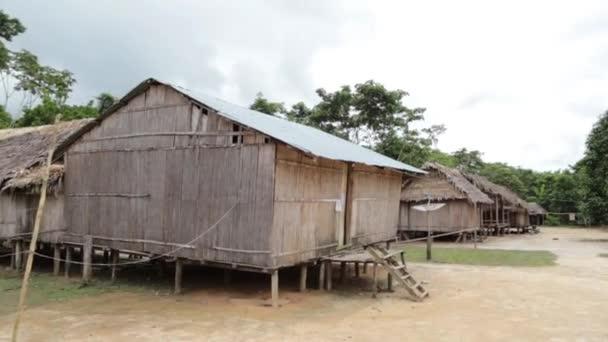 Indové chaty u kmenem Amazon
