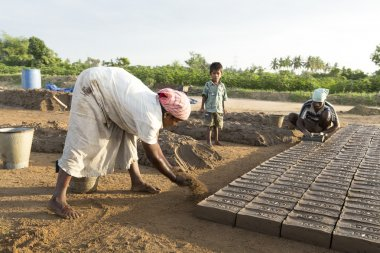 Documentary editorial  hand made bricks India