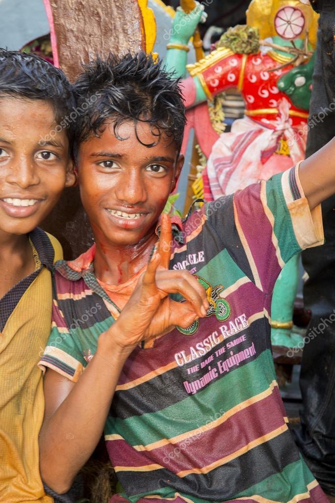 Documentary image. Editorial. Temple festival India