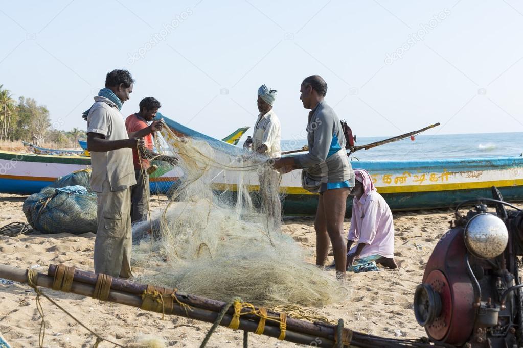 Documentary images : Fishermen at Pondichery, India