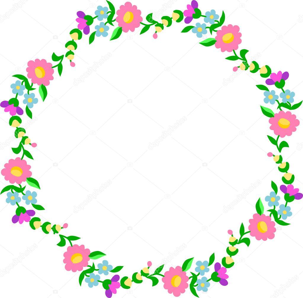 Borde circular de patrón de bordado — Archivo Imágenes Vectoriales ...