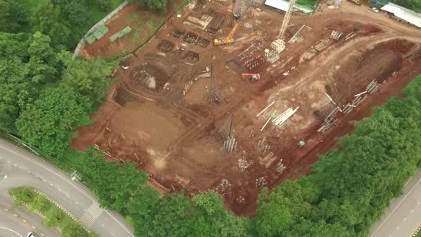 Luftaufnahme von Baustelle