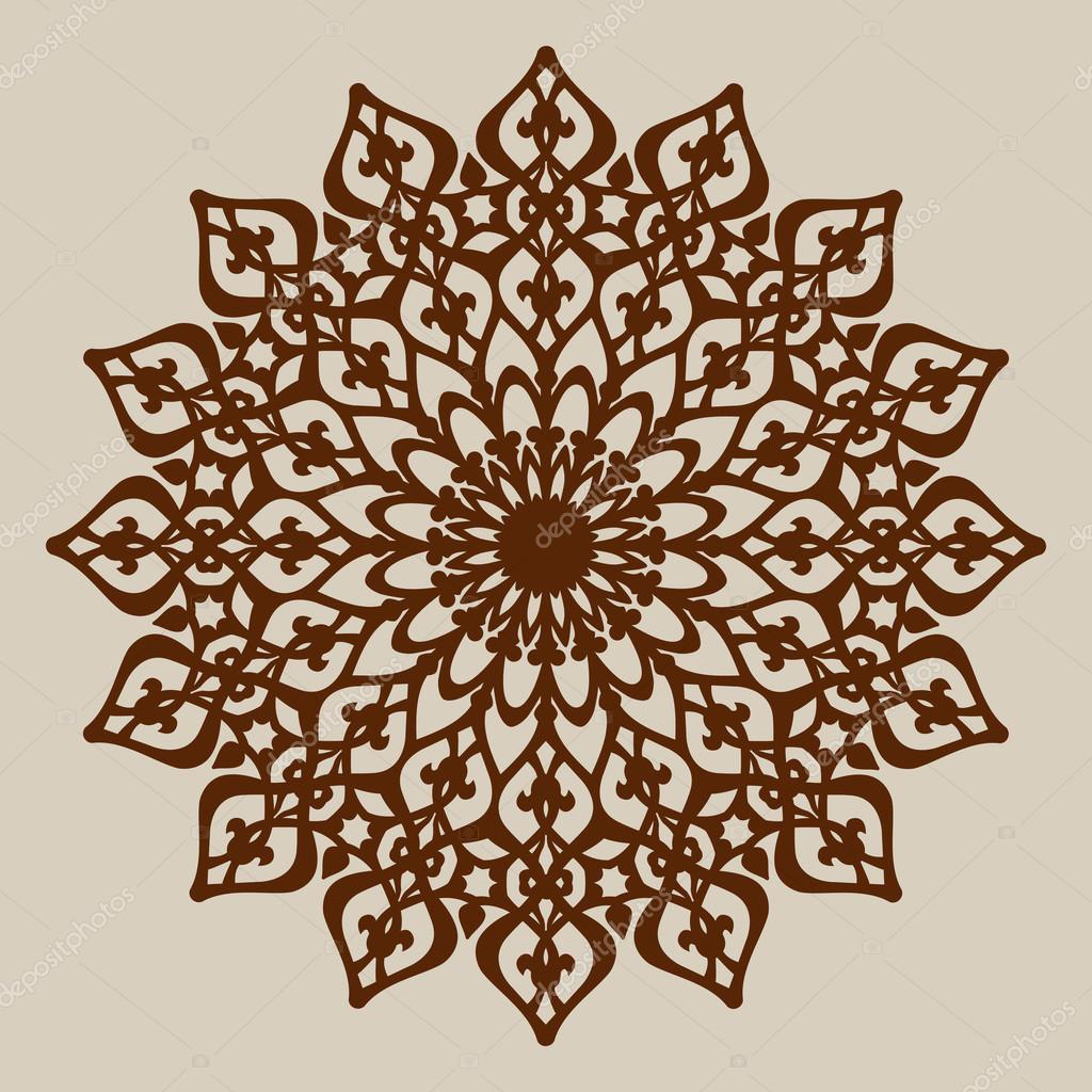 die mandala muster vorlage f r dekorative rosette stockvektor galinaalex 105813206. Black Bedroom Furniture Sets. Home Design Ideas