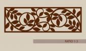 Šablona vzor pro laserové řezání dekorativní panel