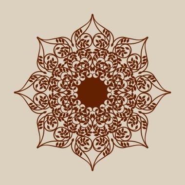 The template mandala pattern for decorative rosette