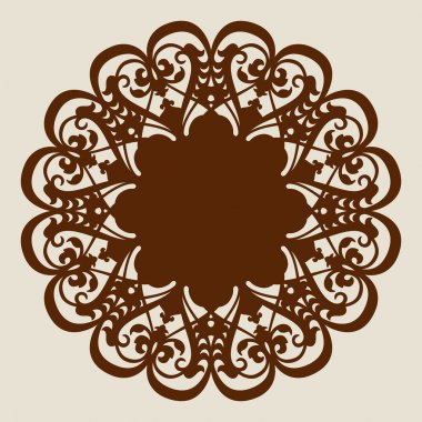 The template mandala pattern for decorative rosette