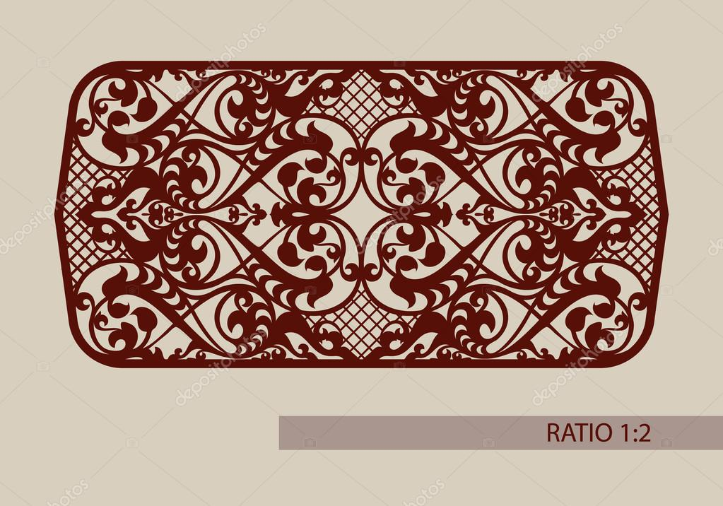 The template pattern for laser cutting decorative panel — Stock ...