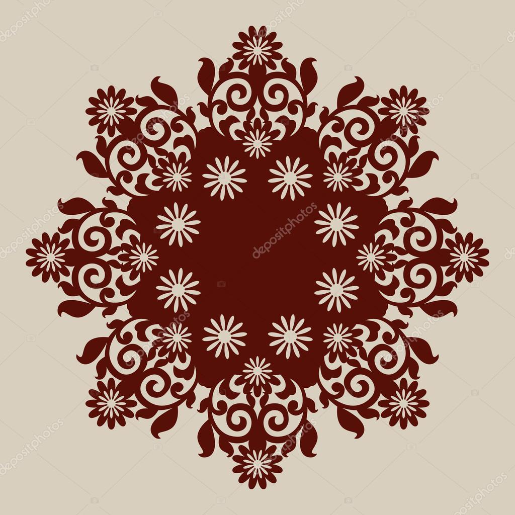 Le mod le mod le de mandala pour rosette d corative - Modele de mandala ...
