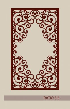 Geometric ornament. The template pattern for decorative panel. A picture suitable for laser cutting, paper cutting, printing, engraving wood, metal, stencil manufacturing. Vector stock vector