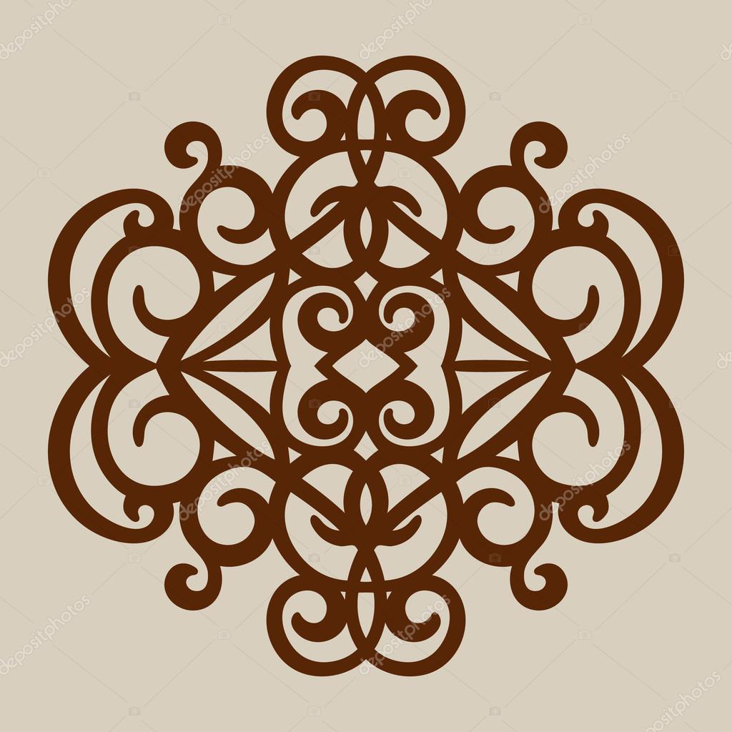 El patrón de la plantilla de panel decorativo de corte láser ...