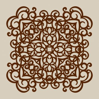 The template pattern for laser cutting decorative panel