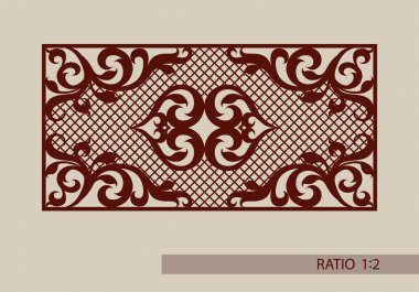 Floral ornament. The template pattern for decorative panel. A picture suitable for paper cutting, printing, laser cutting or engraving wood, metal. Stencil manufacturing. Vector stock vector