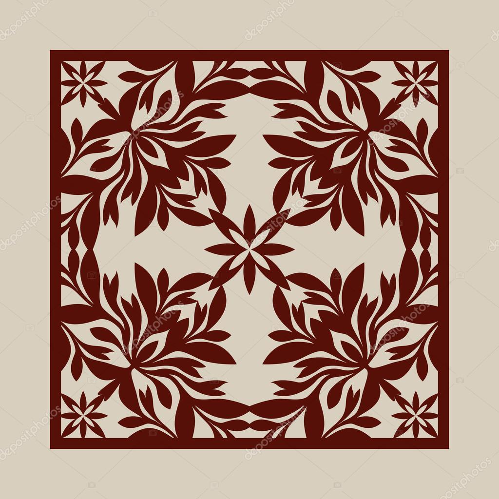 Plantilla para panel decorativo de corte láser — Archivo Imágenes ...