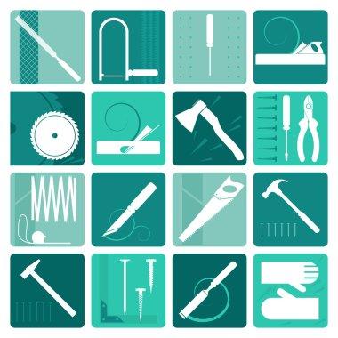 Set of carpentry tools