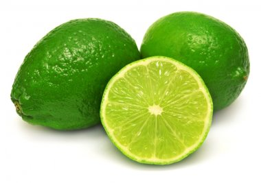 Citrus lime fruits and slice