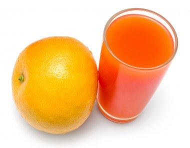 glass of fresh juice and grapefruit