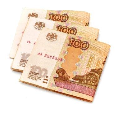 Russian rubles money