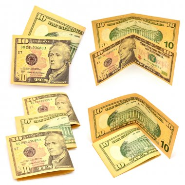 Collection of dollars banknotes