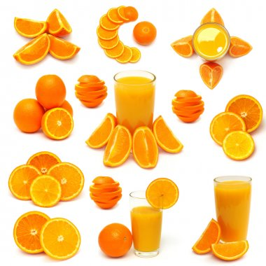 Collection of orange fruits
