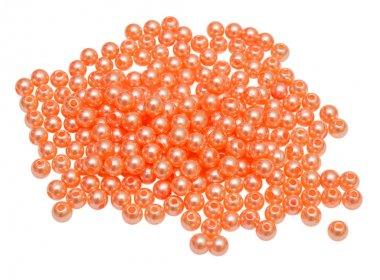 Orange beads isolated