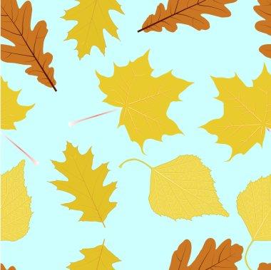 Autumn leaves. Seamless texture.