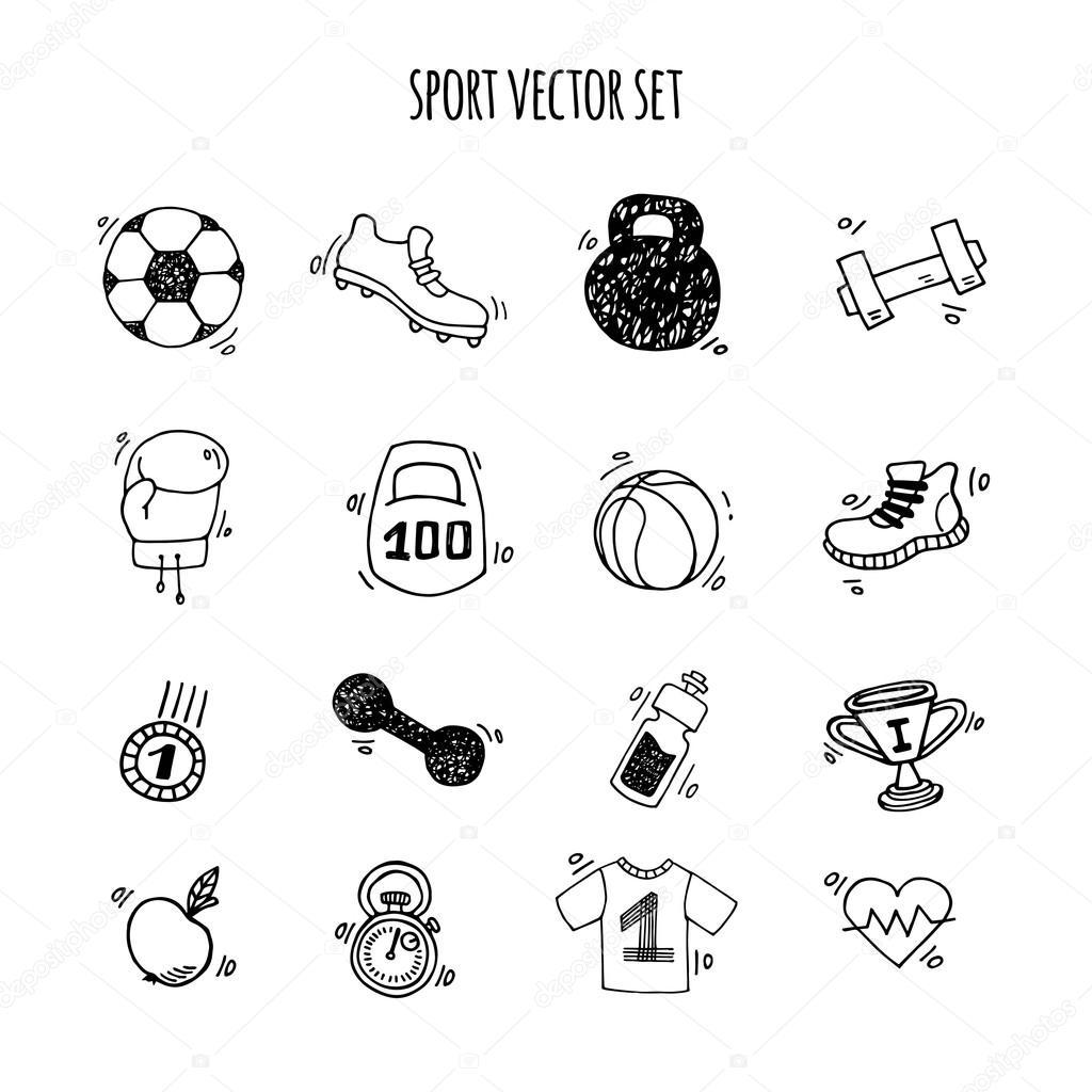 спорт картинки нарисованные