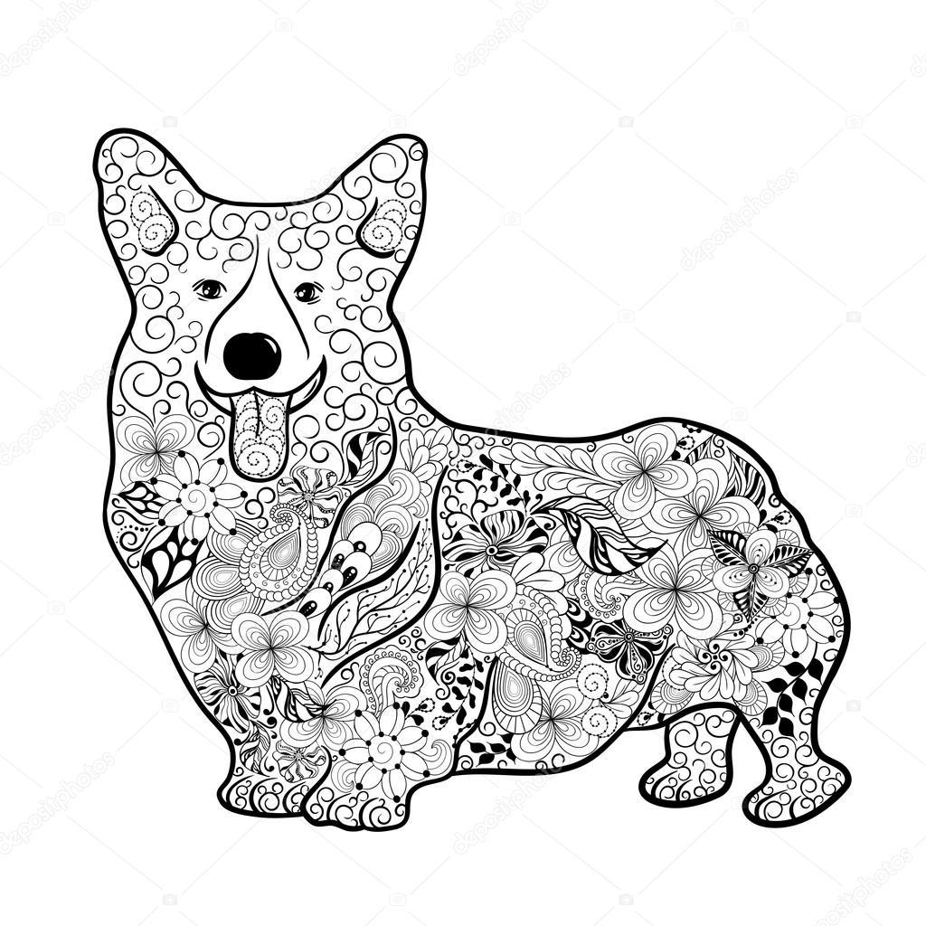 Welsh Corgi Dog Doodle Stock Vector 169 Vasylieva Yuliya