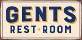 Vintage metal sign - Gents Rest Room