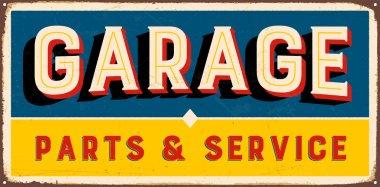 Vintage metal sign - Garage Parts & Service
