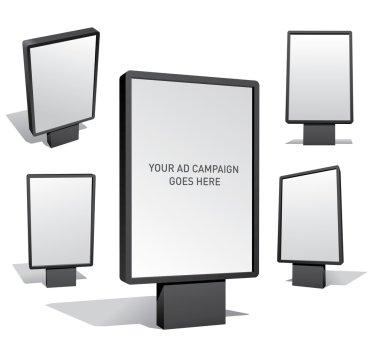 Set of blank outdoor billboards for designers clip art vector