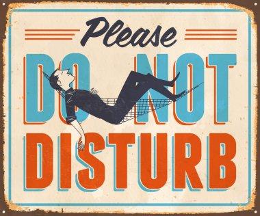 Vintage Metal Sign - Please Do Not Disturb - Vector