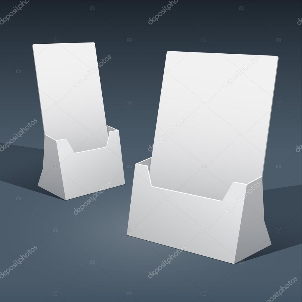 2 sizes of blank brochure holder template for designers vector by realcallahan