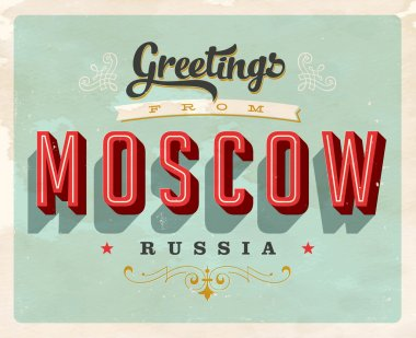 Vintage Touristic Greeting Card