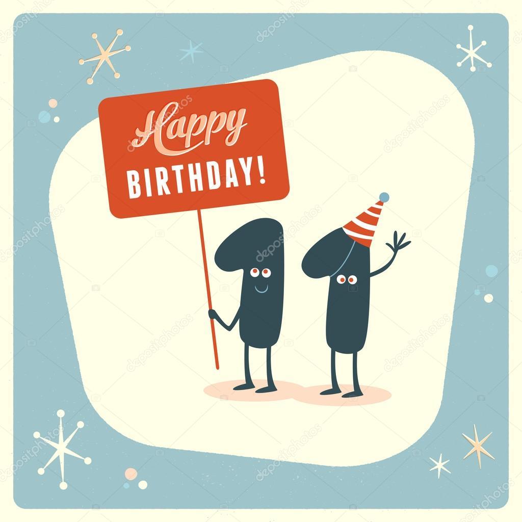 Funny 11th Birthday Card Stock Vector Realcallahan 88665642