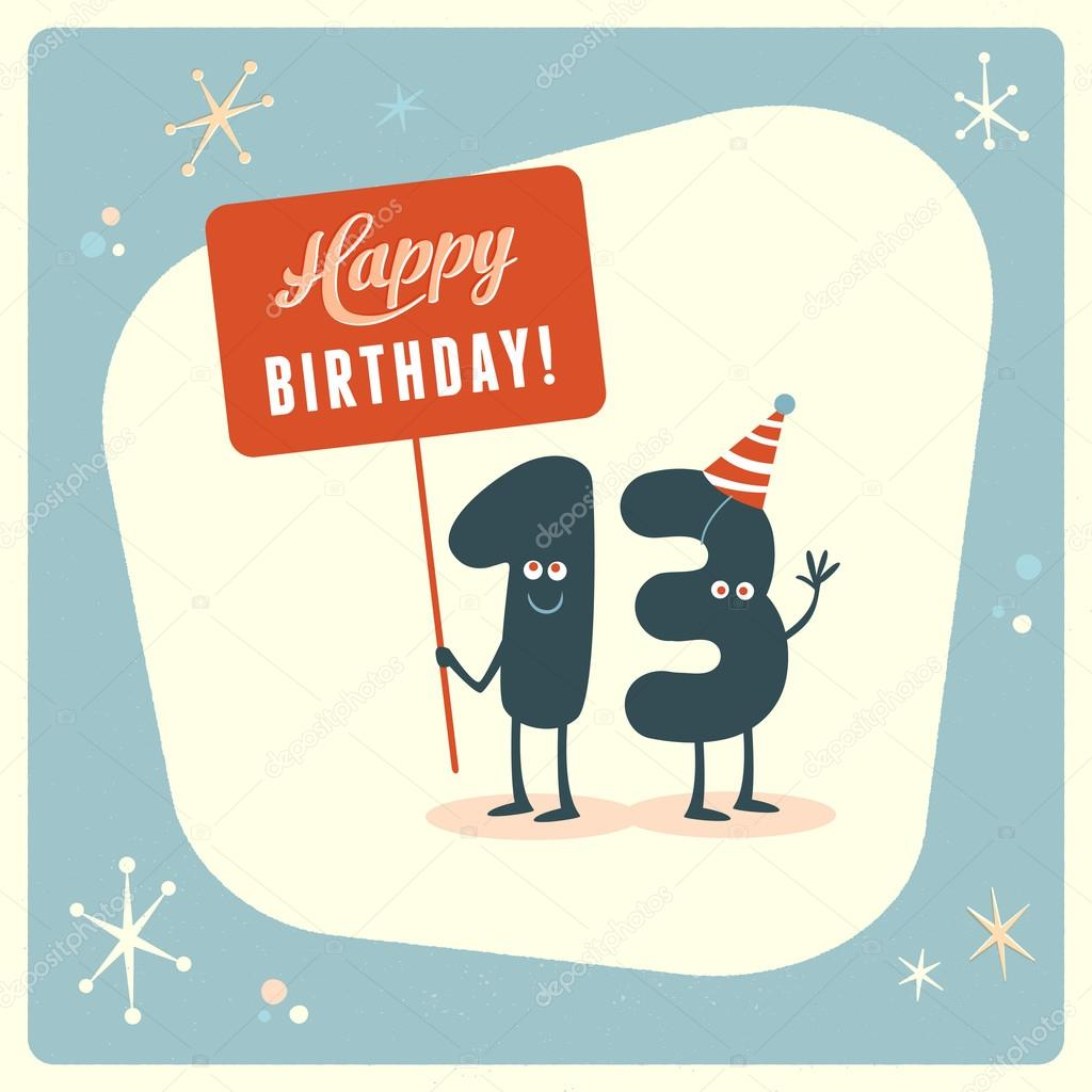 Funny 13th birthday card stock vector realcallahan 88665702 funny 13th birthday card stock vector bookmarktalkfo Image collections