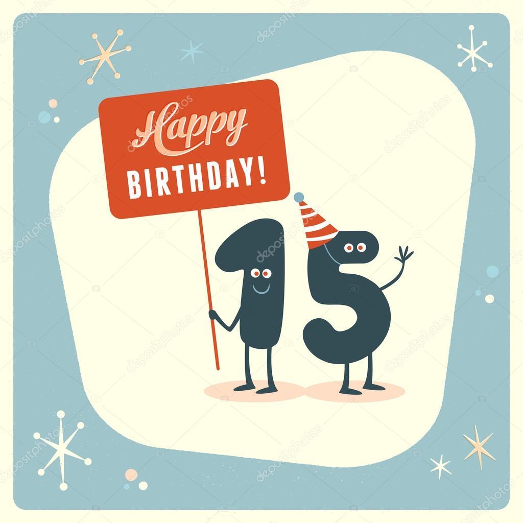 Funny 15th birthday Card Vector RealCallahan 88665760 – 15th Birthday Card