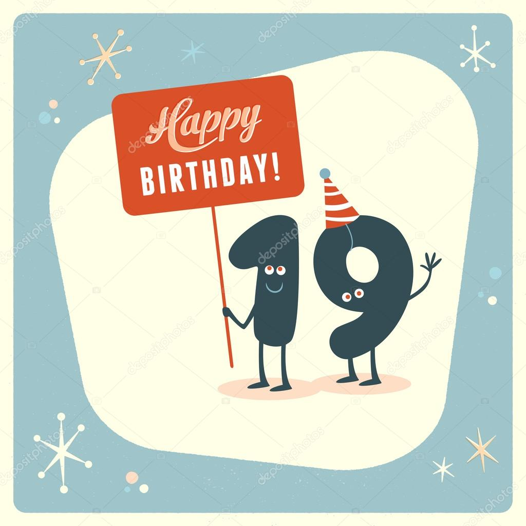 Funny 19th birthday Card Vector RealCallahan 88666064 – Funny 19th Birthday Cards