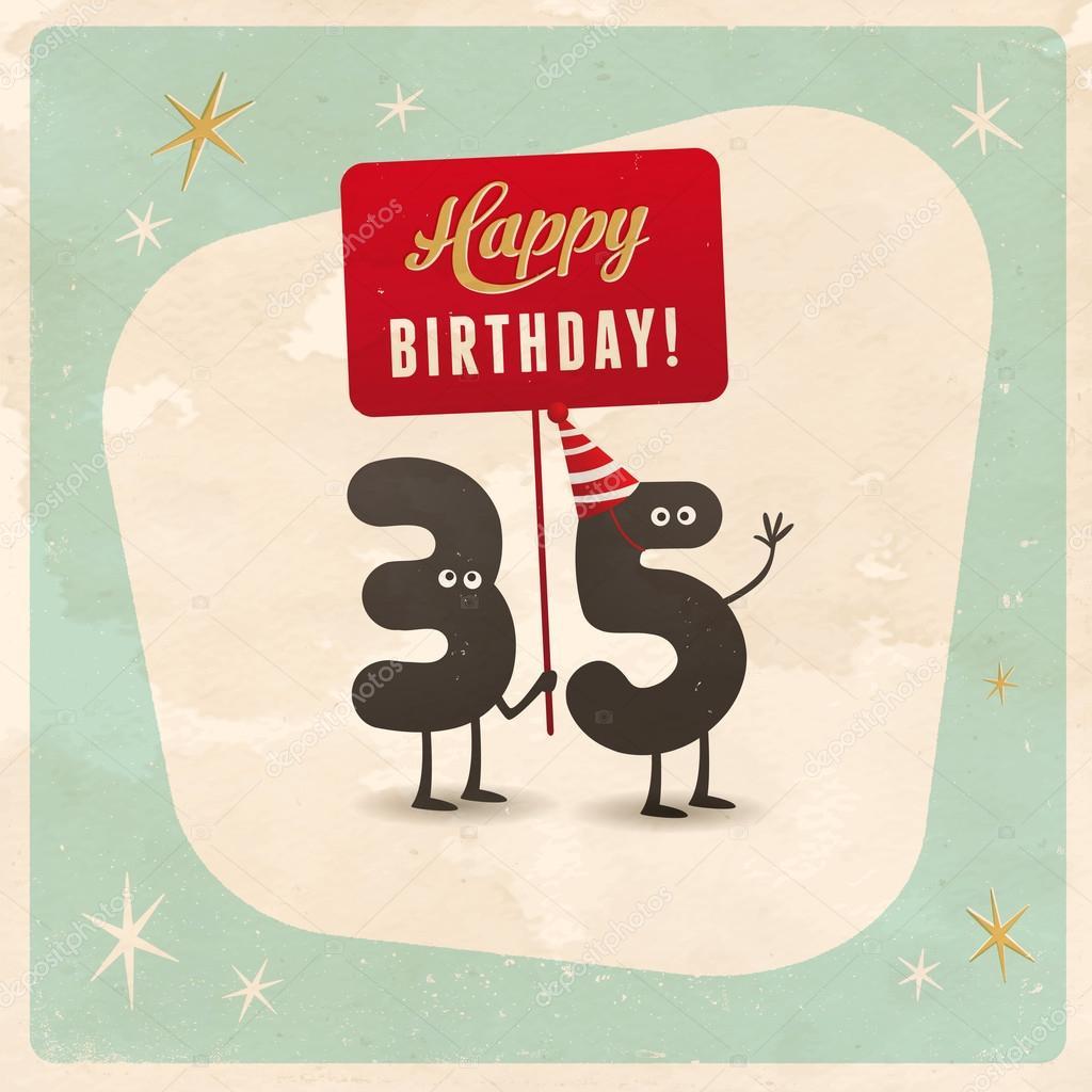 Funny 35th birthday Card