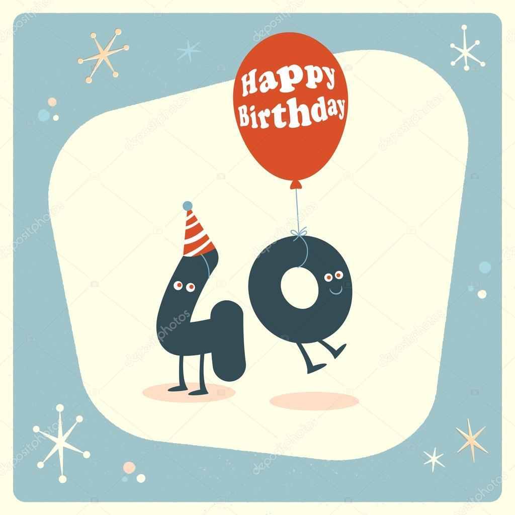 40 Geburtstag Karte Lustig Stockvektor C Realcallahan 88666638