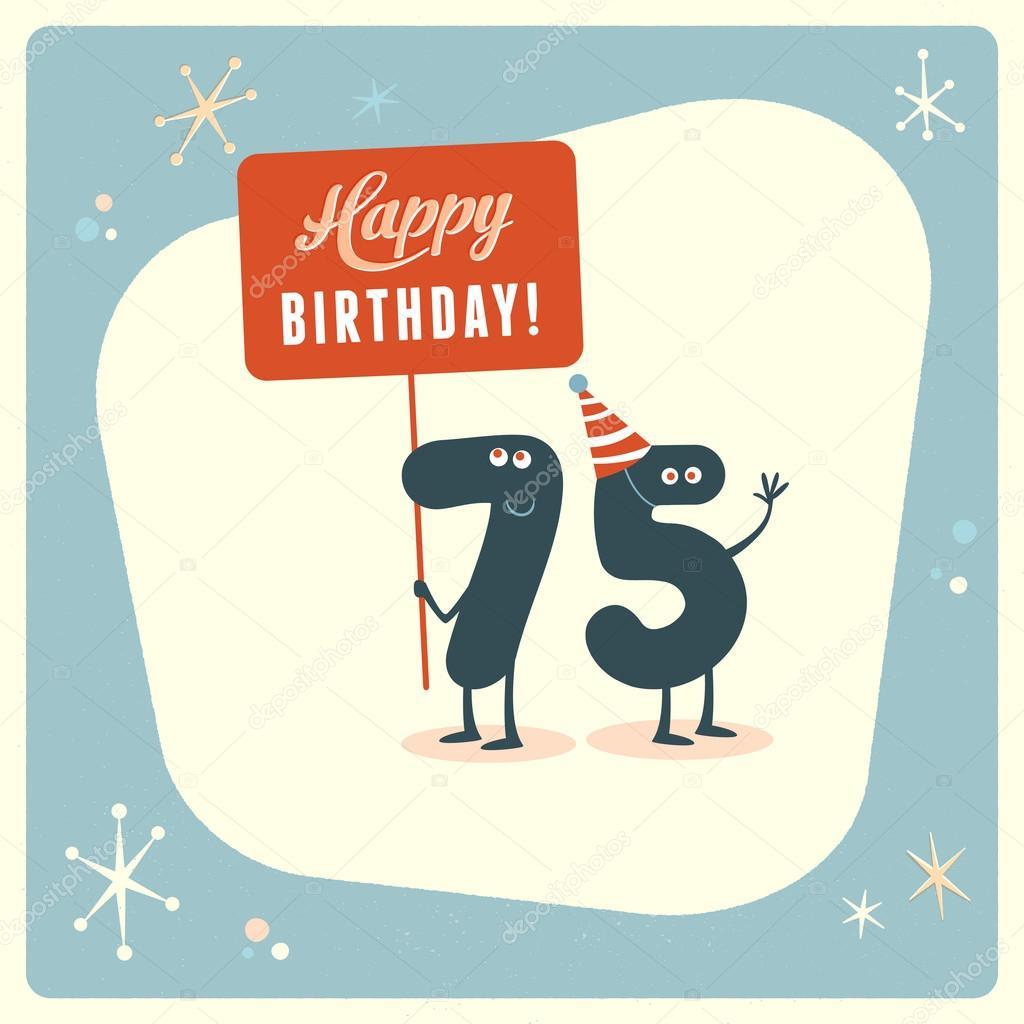 75 Geburtstag Karte Lustig Stockvektor C Realcallahan 88666830