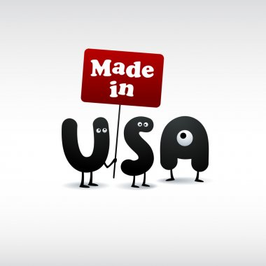 Funny Made in USA illustration