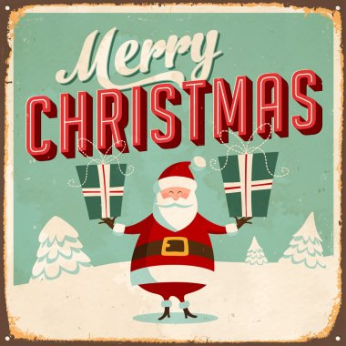 Vintage Sign - Merry Christmas