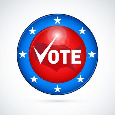 Vote election campaign badge button
