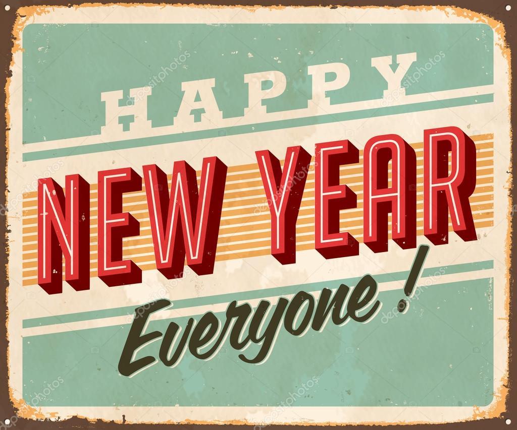 Happy New Year Everyone Stock Vector