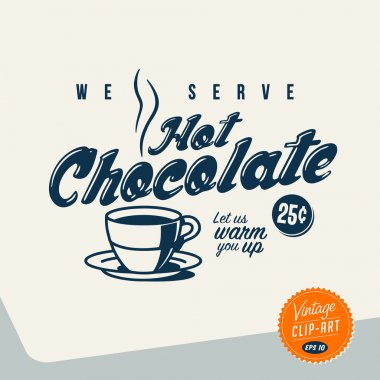 Vintage Clip Art - Hot Chocolate
