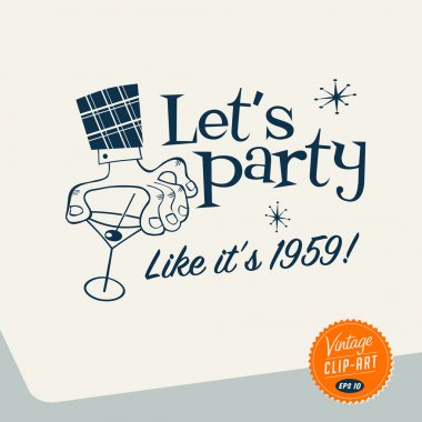 Vintage Clip Art - Let's Party