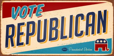 Vote Republican metal sign
