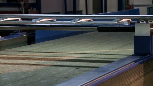 Production workshop. View of empty conveyor belt