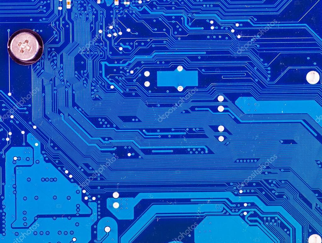 Blue Circuit Board Stock Photo Image 6468610