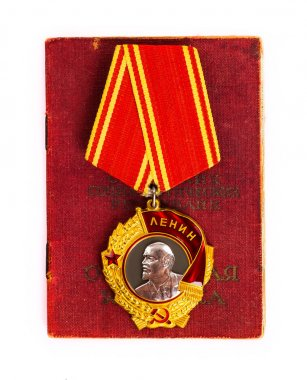 Order of Lenin on white background